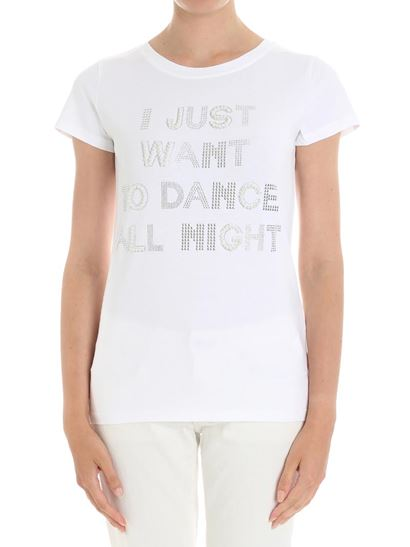 Clearance Affordable White I just want to dance all night t-shirt Blugirl Purchase For Sale Get Authentic For Sale qRWl0
