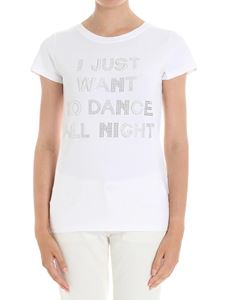 Blugirl - White I just want to dance all night t-shirt