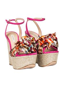 Casadei - Wedge sandals with bow