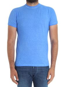 Dsquared2 - Blue garment dyed fabric T-shirt