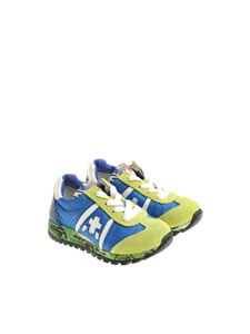 Premiata Will Be - Blue and green Lucy sneakers