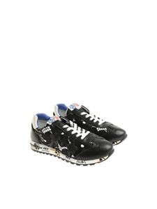 Premiata Will Be - Black embroidered Lucy sneakers