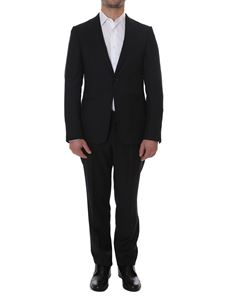 Z Zegna - Black knitted wool suit
