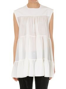 Chloé - Flounced silk top