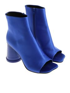 MM6 by Maison Martin Margiela - Electric Blue open toe ankle boots
