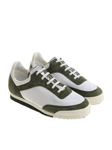 Spalwart - Green and white Pitch Low sneakers