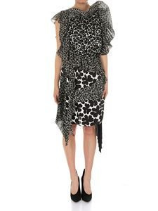 Givenchy - Black and white multi print short dress