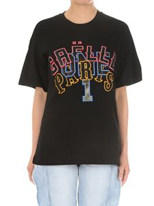 Gaelle Paris - Black embroidered logo t-shirt