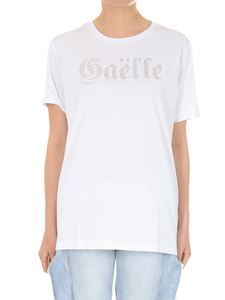 Gaelle Paris - White cotton T-shirt with logo
