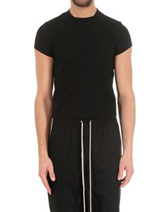 Rick Owens - T-shirt crop nera in cotone