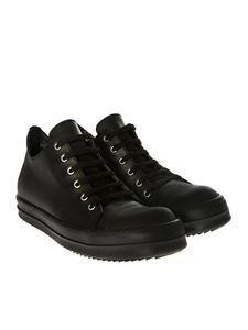 Rick Owens - Black leather sneakers