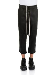 Rick Owens DRKSHDW  - Black Drawstring Cropped pants