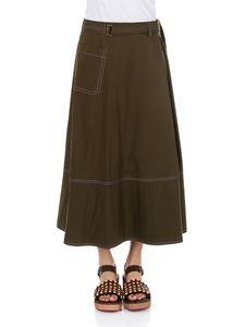 Marni - Army green long skirt