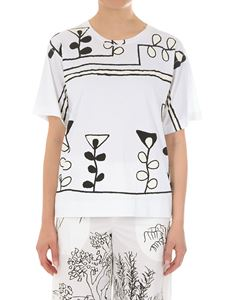 Marni - White Paint print T-shirt