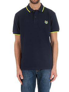 Kenzo - Embroidered Tiger blue polo