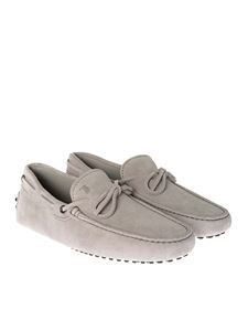 Tod's - Grey suede loafers