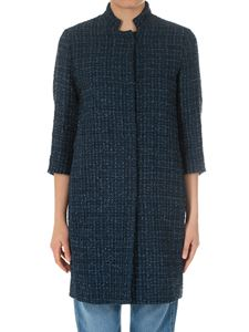 Herno - Blue bouclé coat