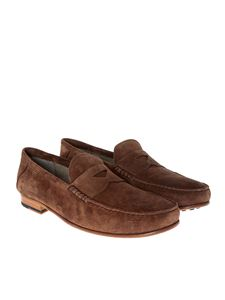 Tod's - Brown suede loafers