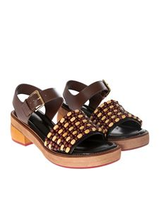 Marni - Sandals with wooden beads