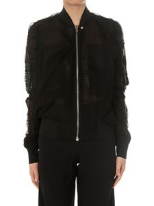 Rick Owens - Black Swoop Flight bomber jacket