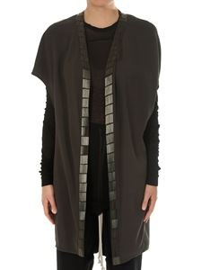 Rick Owens - Embroidered sleeveless jacket