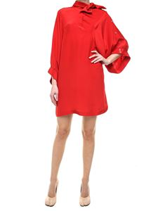 Maison Margiela - Red silk satin mini dress
