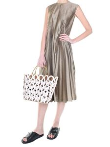 Maison Margiela - Golden pencil unlined dress
