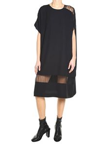 Maison Margiela - Black crepe dress with nude effect