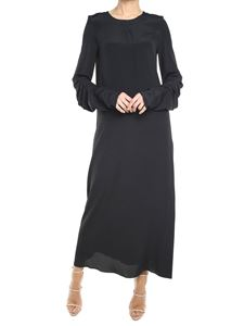 Marni - Black crepe-de-chine dress