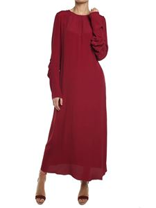 Marni - Red crepe-de-chine dress