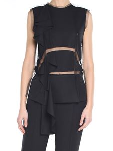 Maison Margiela - Black destructured raw-cut top