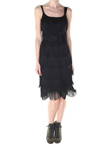 Marc Jacobs  - Black fringed dress