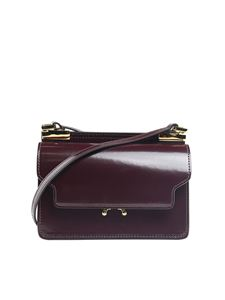 Marni - Burgundy Mini Trunk brushed leather bag