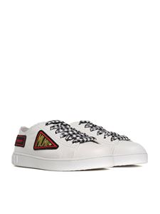 Miu Miu - Patches leather sneakers