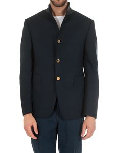 Thom Browne - Blue 3 button jacket in super 120 wool