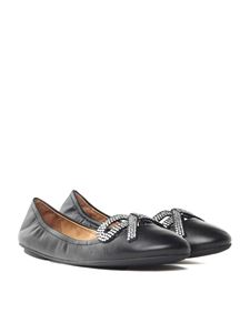 Marc Jacobs  - Black leather Willa ballerinas