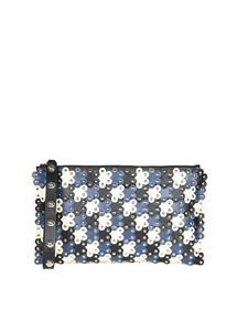 Red Valentino - Flower Puzzle leather clutch bag