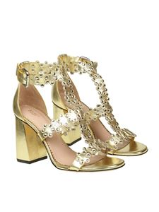 Red Valentino - Golden Flowers Puzzle sandals