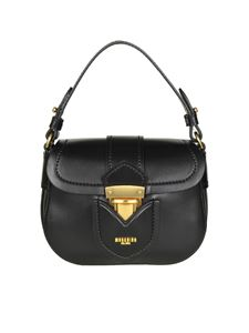 Moschino - Black leather shoulder bag