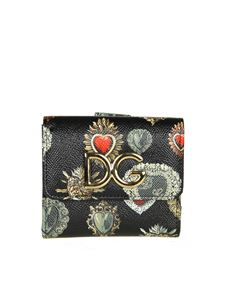 Dolce & Gabbana - Black printed leather wallet