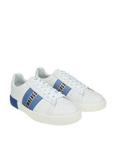 Bikkembergs - White and blue Cosmos sneakers