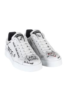 Dolce & Gabbana - Printed leather Port Light sneakers