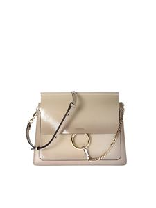 Chloé - Beige Faye leather shoulder bag