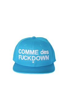 Comme des Fuckdown - Turquoise baseball cap with logo
