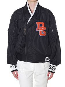 Dolce & Gabbana - Black Bomber jacket with patches