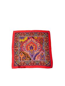 Etro - Red Bangalore silk foulard