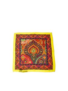 Etro - Yellow Bangalore silk foulard