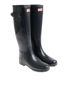 Hunter - Glossy blue Wellington boots