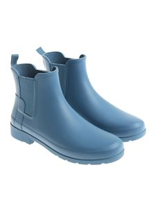 Hunter - Light blue rubber refined Chelsea boots