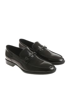 Tod's - Black patent leather loafers
